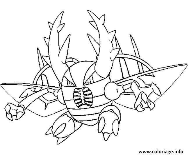 coloriage mega evolution scarabrute 127