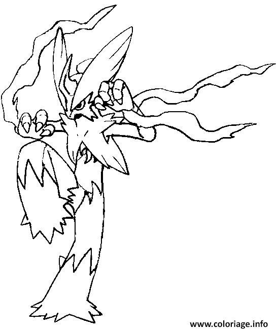 pokemon mega evolution brasegali coloriage