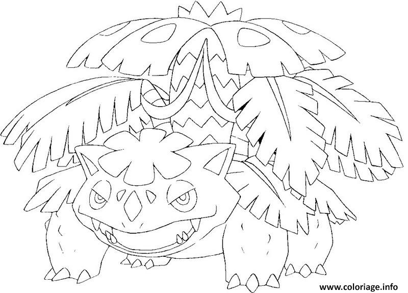 Coloriage Pokemon Mega Evolution Florizarre Dessin