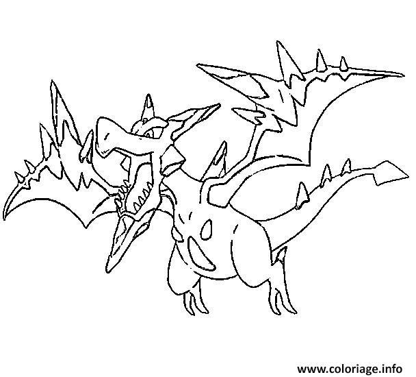 Coloriage pokemon mega evolution ptera 142 dessin - Pokemon ptera ...