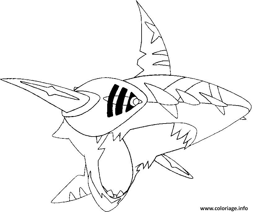 Coloriage Pokemon Mega Evolution Sharpedo 319 Jecolorie Com