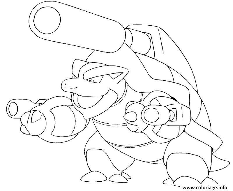 pokemon mega evolution tortank 9 coloriage