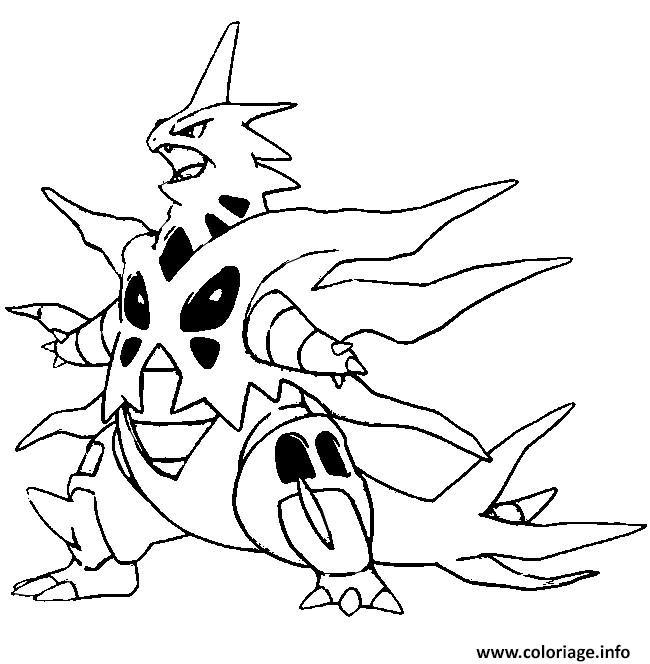 Coloriage Pokemon Mega Evolution Tyranocif Dessin