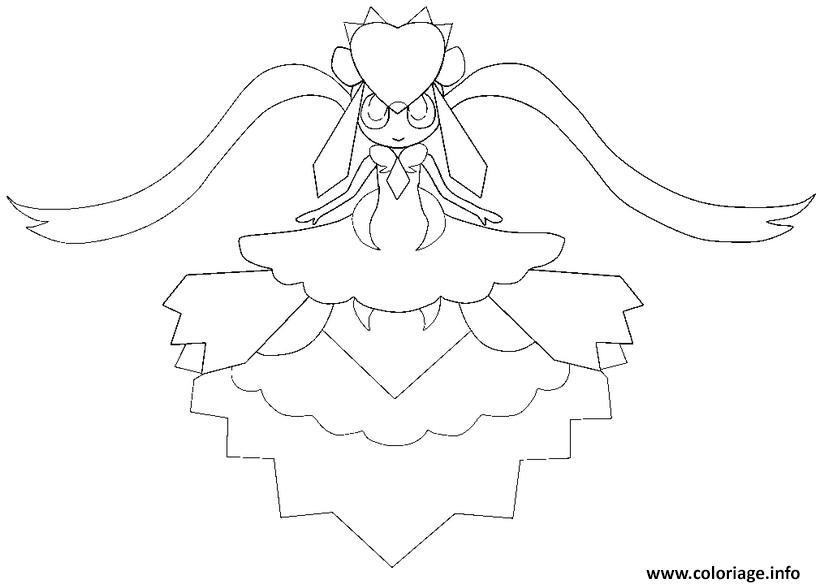 Coloriage pokemon mega evolution diancie 719 dessin - Pokemon gratuit ...