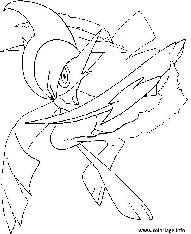 Coloriage pokemon mega evolution gallame 475 - Pokemon a imprimer mega evolution ...