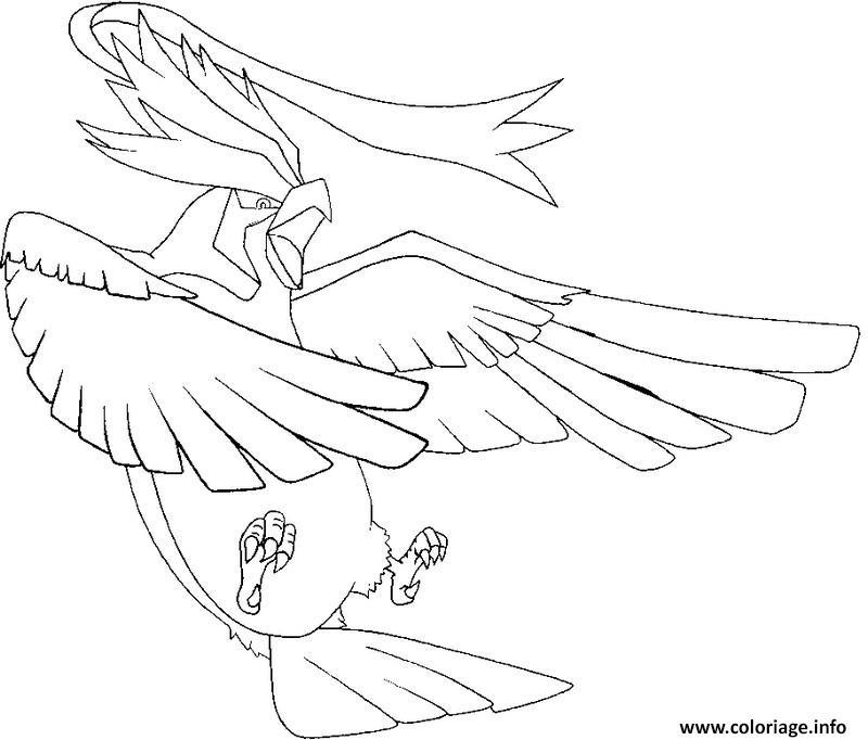 pokemon mega evolution roucarnage coloriage dessin
