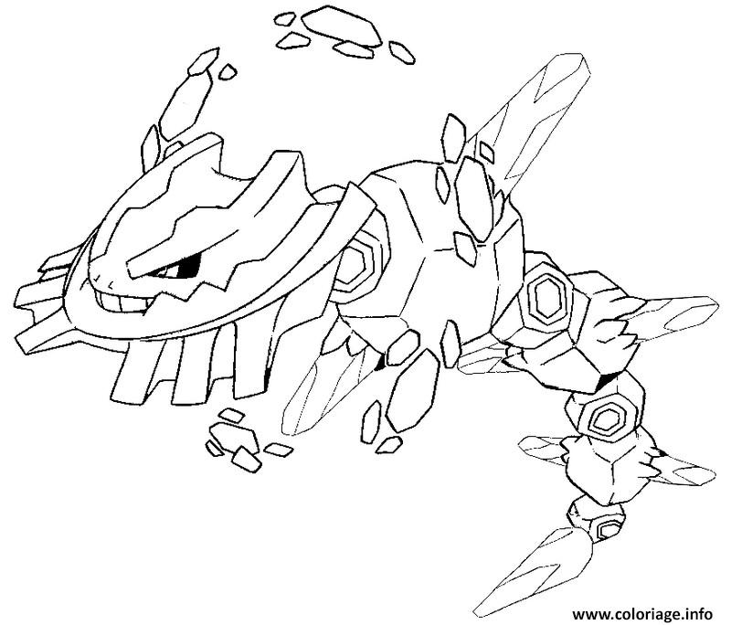Coloriage pokemon mega evolution steelix 208 dessin - Coloriage pokemon sulfura ...