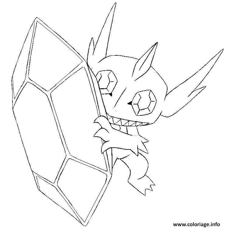 Coloriage Pokemon Mega Evolution Tenefix 302 dessin