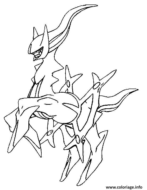 Coloriage 493 arceus pokemon forme alternative dessin - Pokemon gratuit ...