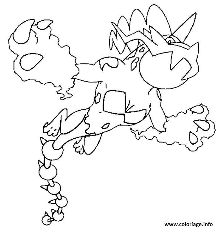 Pokemon Sun En Moon Kleurplaat Incineroar Coloriage 642 Fulguris Pokemon Forme Alternative