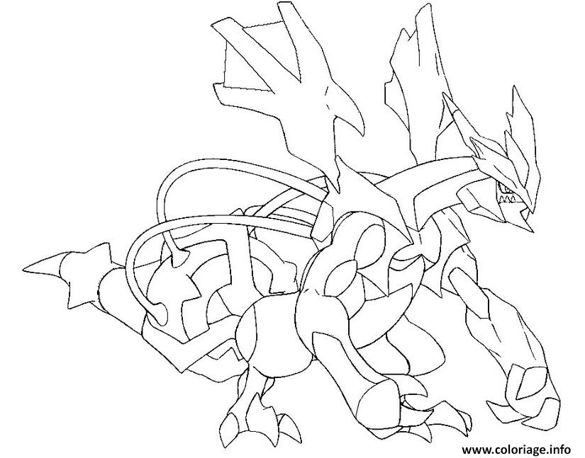 Coloriage 646 kyurem noir pokemon forme alternative - Pokemon kyurem noir ...