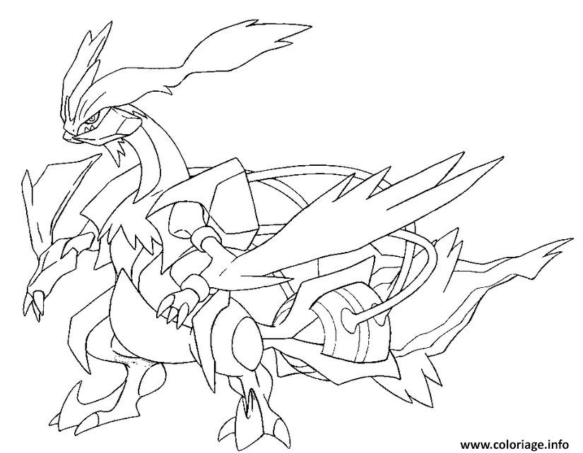 Coloriage 646 kyurem blanc pokemon forme alternative - Pokemon legendaire blanc 2 ...