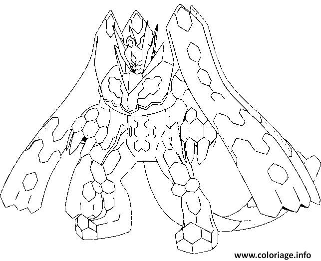 Coloriage 718 Zygarde Forme Parfaite 100 Pokemon Forme Alternative Dessin à Imprimer