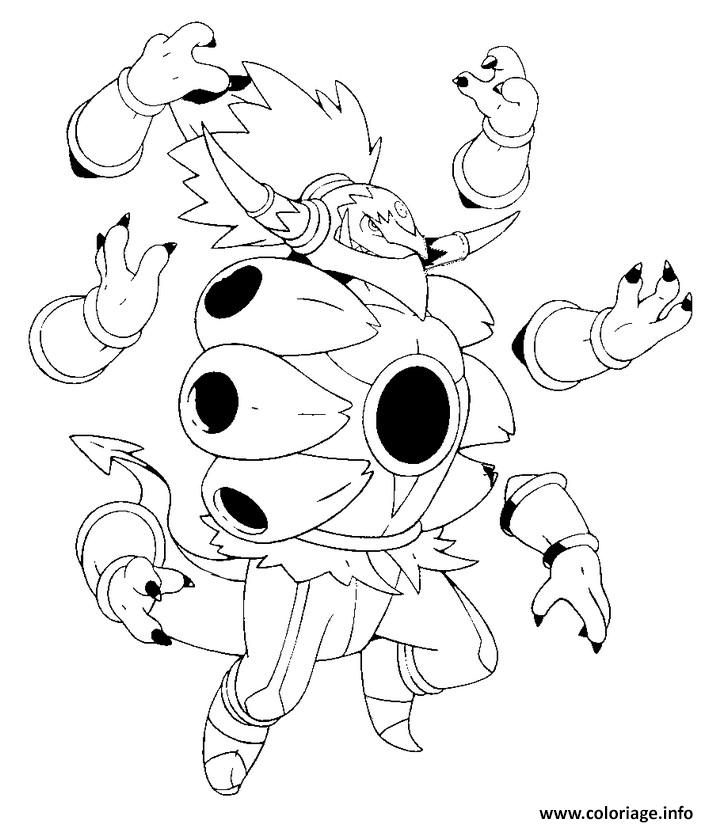 Coloriage 720 Hoopa Dechaine Unbound Pokemon Forme Alternative Dessin à Imprimer