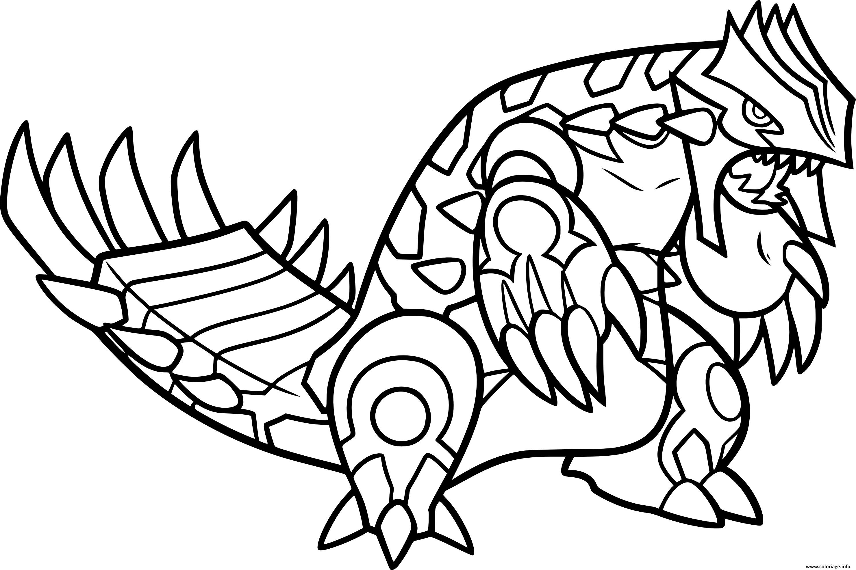 Coloriage Pokemon Legendaire Dessin
