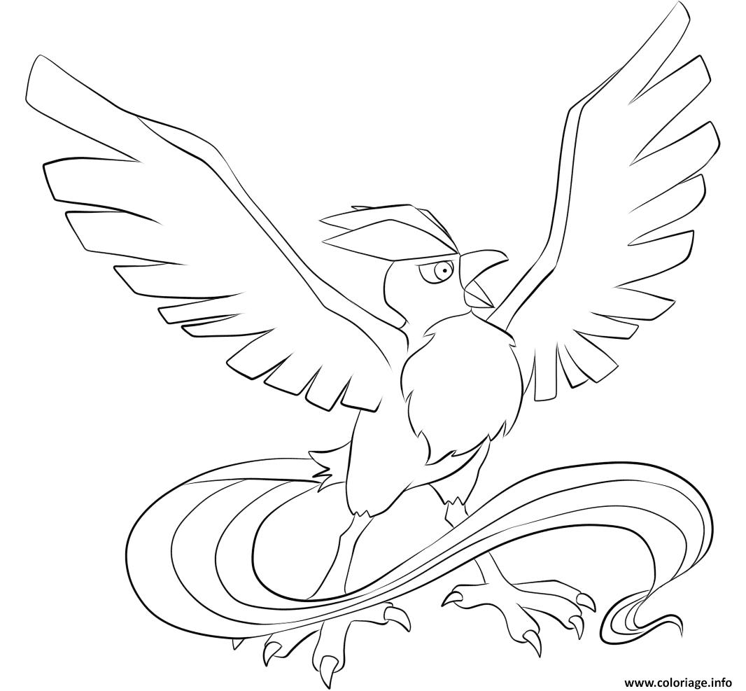Dessin Artikodin pokemon legendaire Coloriage Gratuit à Imprimer