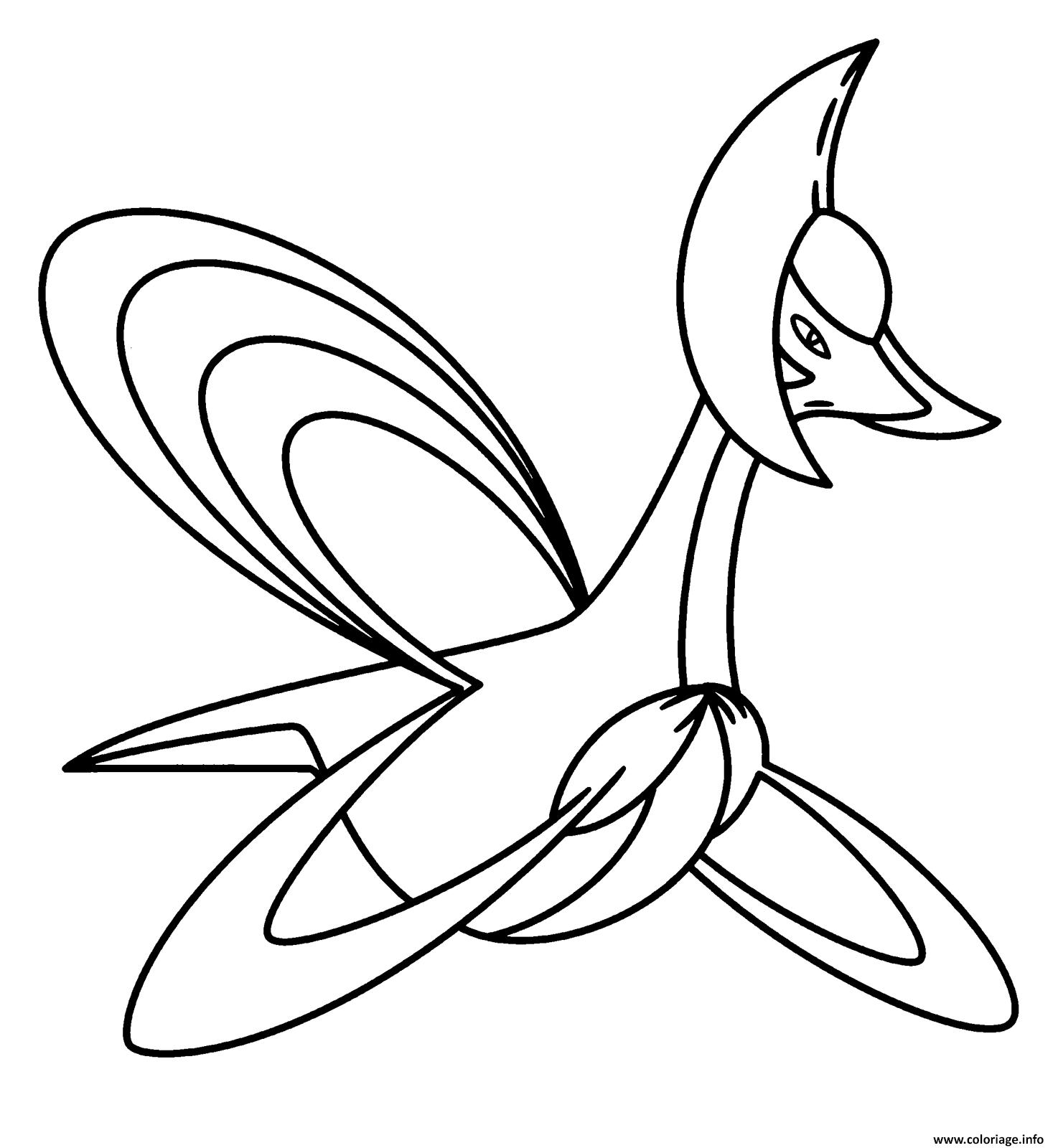 Coloriage 488 Cresselia Pokemon Legendaire Jecolorie Com