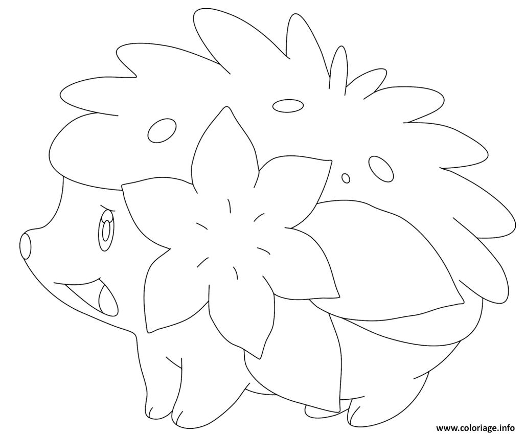 Coloriage Shaymin Sous Forme Naturelle Pokemon Legendaire