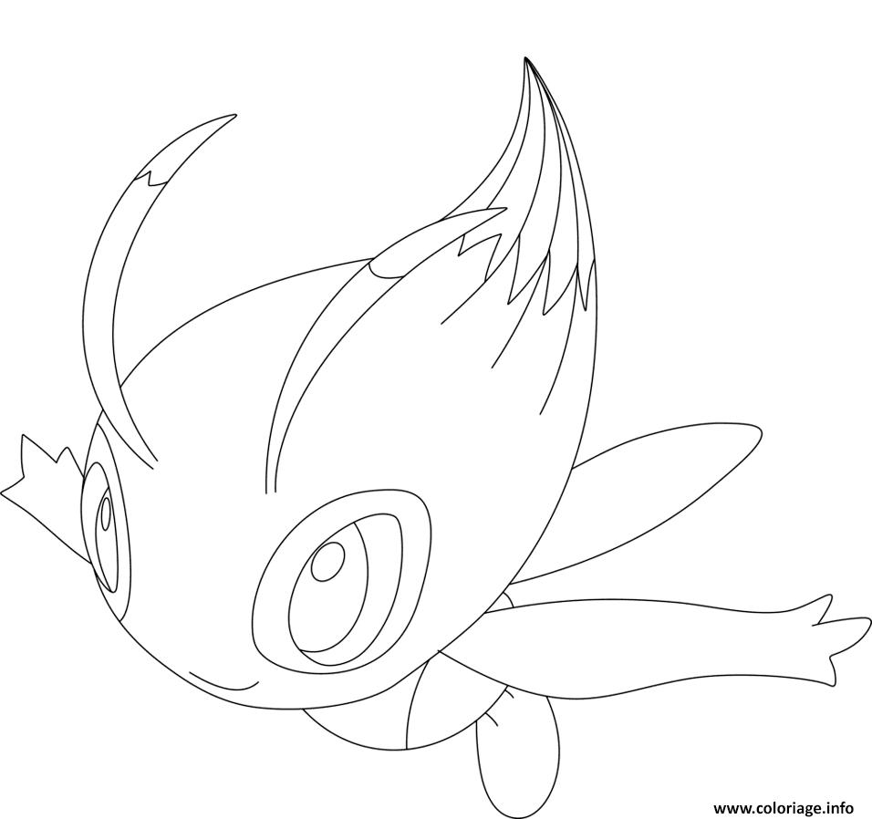 Coloriage Celebi Pokemon Legendaire Jecolorie Com
