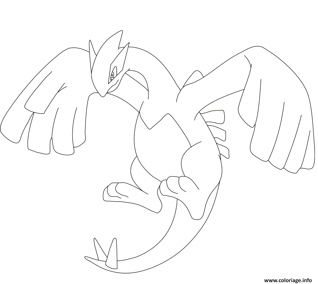 Coloriage lugia pokemon legendaire - Coloriage pokemon legendaire ...
