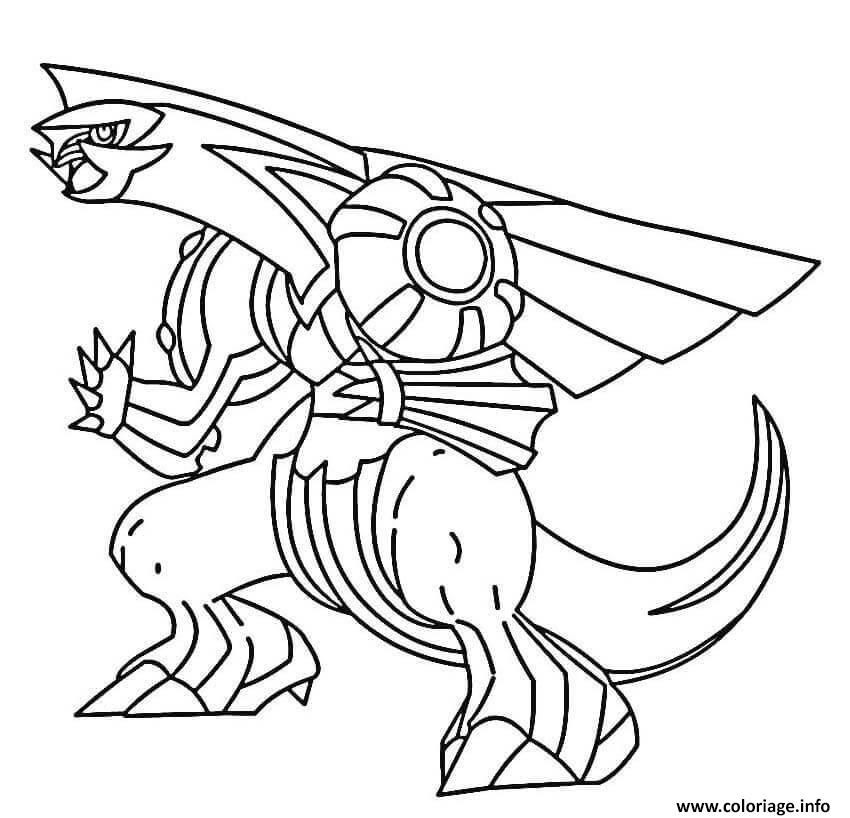 Coloriage Palkia Pokemon Legendaire Dessin