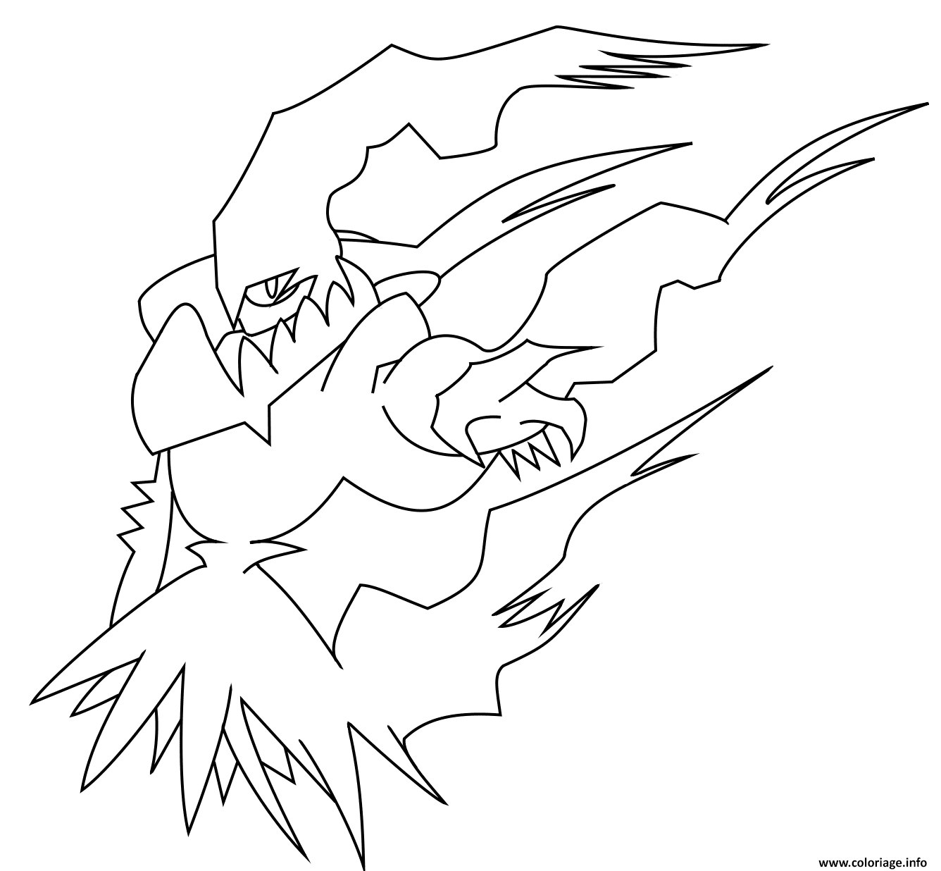 Coloriage Darkrai Pokemon Legendaire Dessin