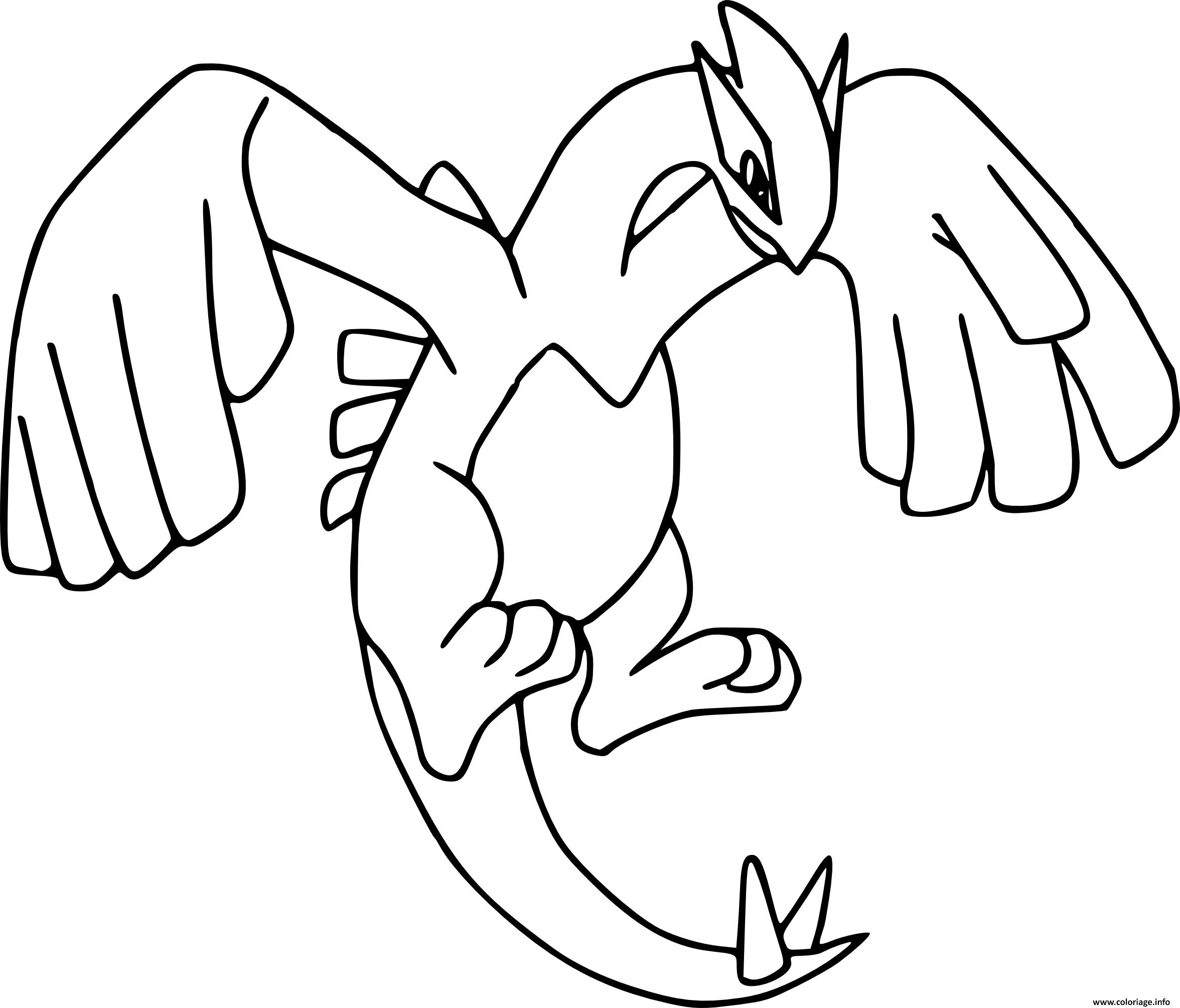 Coloriage pokemon legendaire lugia - Modele dessin pokemon ...