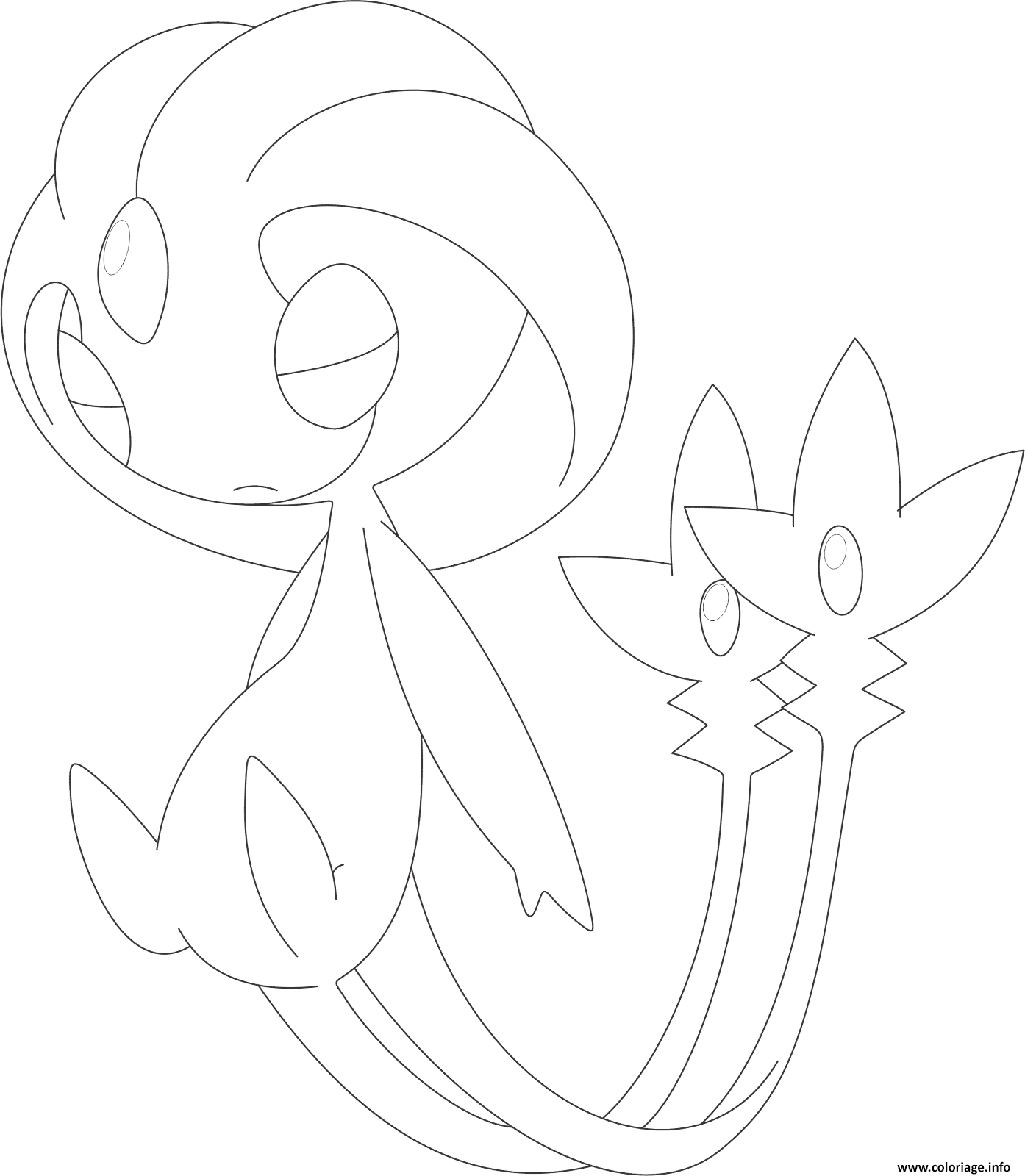 Coloriage Uxie Pokemon Legendaire Dessin