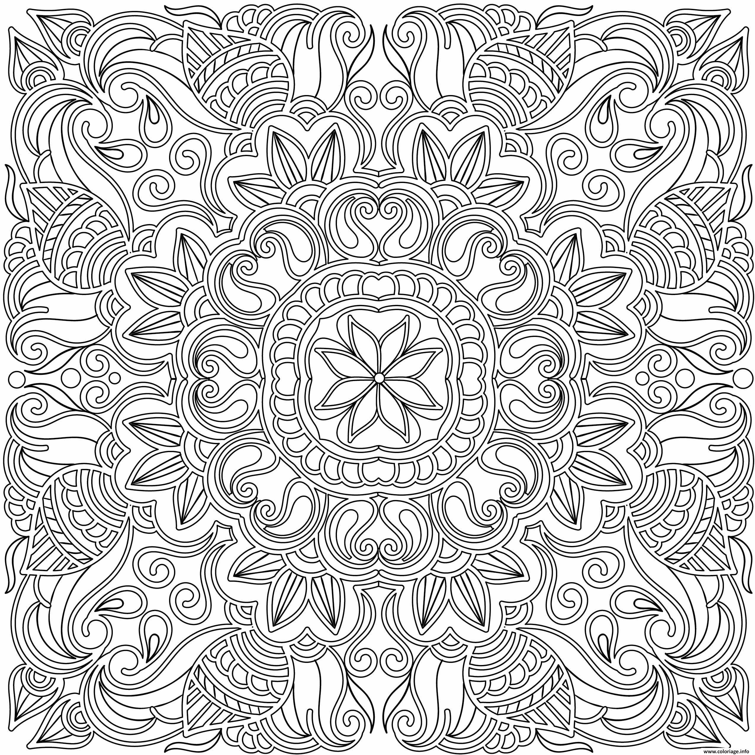 Coloriage Adulte Mandala Doodle Dessin Adulte A Imprimer