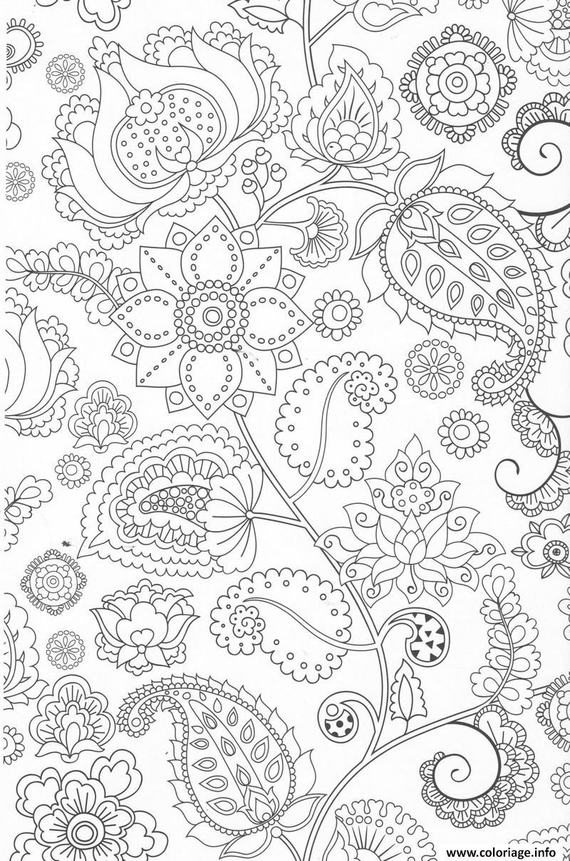 Coloriage Fleur Zen.Coloriage Fleurs Mandala Adulte Zen Anti Stress Dessin