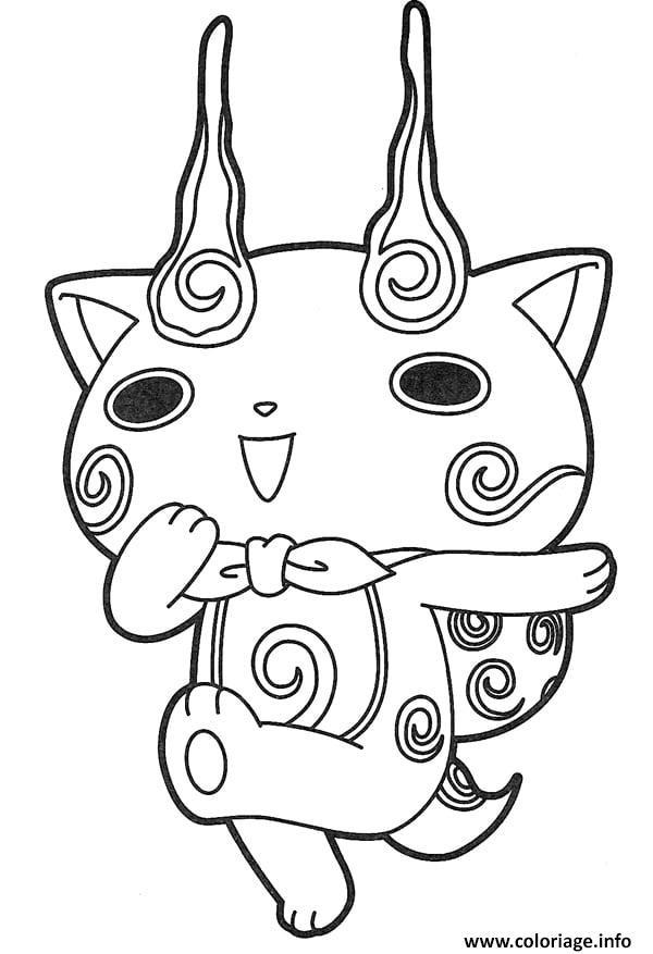 Coloriage manga yokai watch dessin - Manga adulte gratuit ...