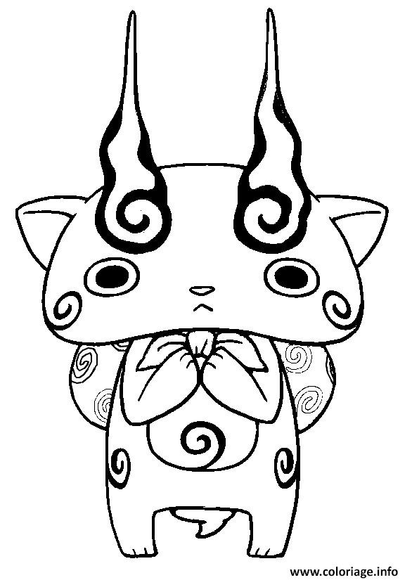 Coloriage yo kai watch 2 komasan for Yo kai watch coloring pages