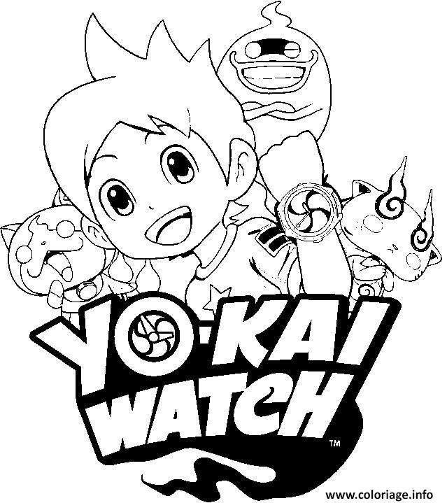 Coloriage Yo Kai Watch 3 Logo Jecolorie Com