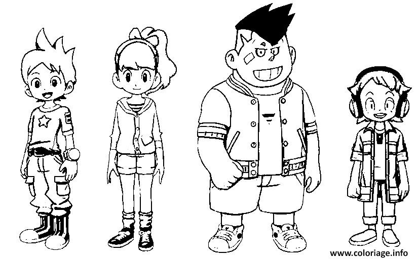 Exceptionnel Coloriage Yo Kai Watch Nathan Adams Katie Forrester Remi Blaise  KW74