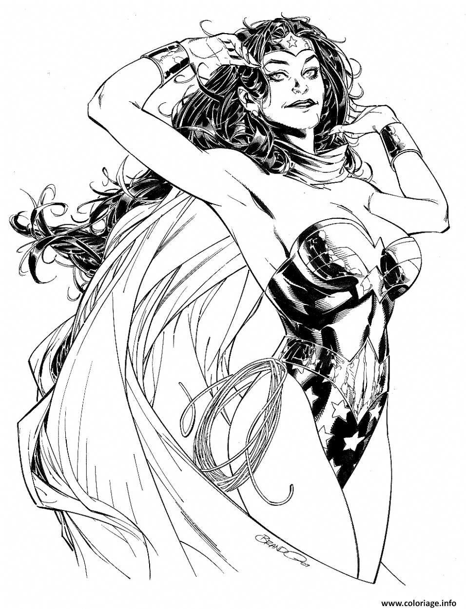 Dessin Wonder Woman by Brandon Peterson Coloriage Gratuit à Imprimer