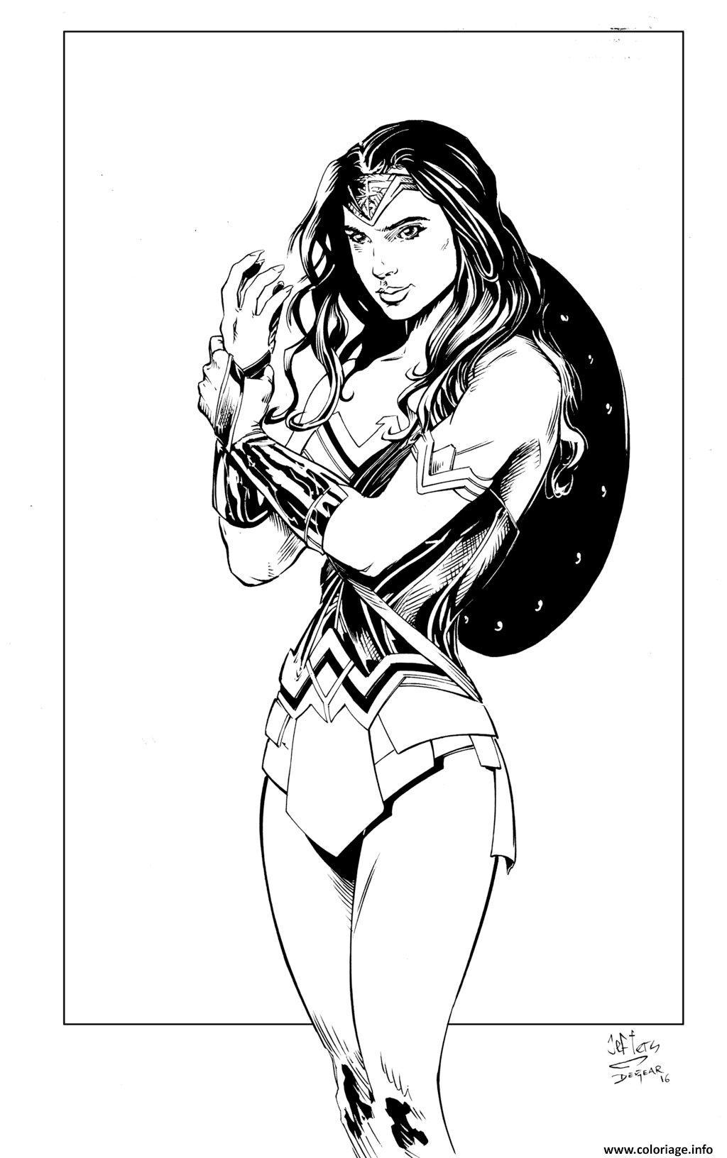 Coloriage Wonder Woman Inks By Devgear Dessin