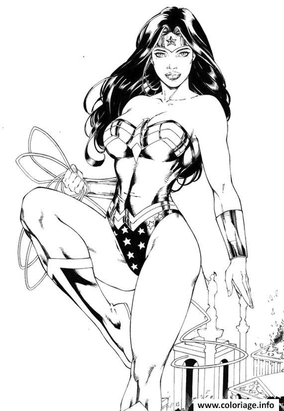 Coloriage Wonder Woman Supergirl Dessin