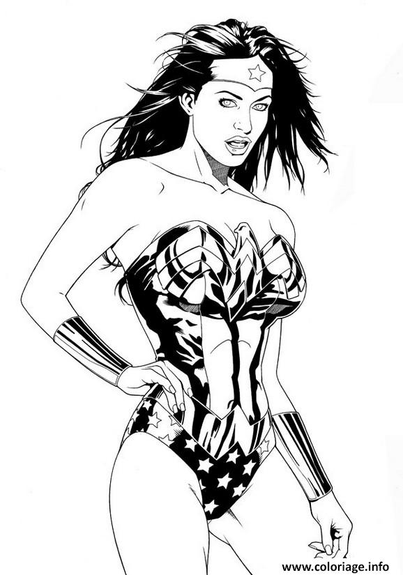 Coloriage Wonder Woman Image Imprimer Jecolorie Com
