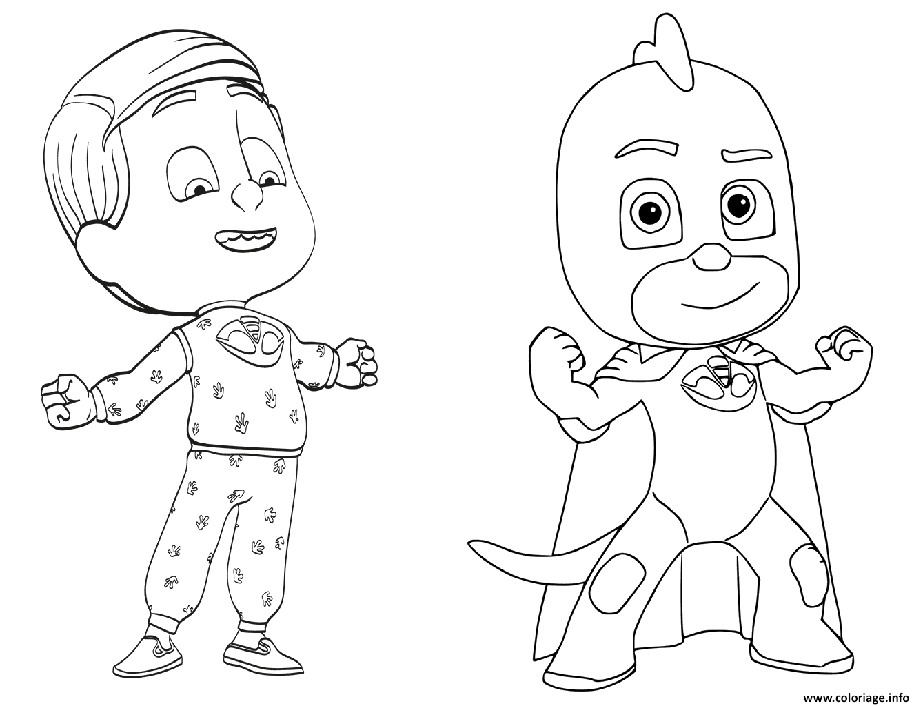 Dessin Greg est le Gluglu de Pyjamasques Coloriage Gratuit à Imprimer