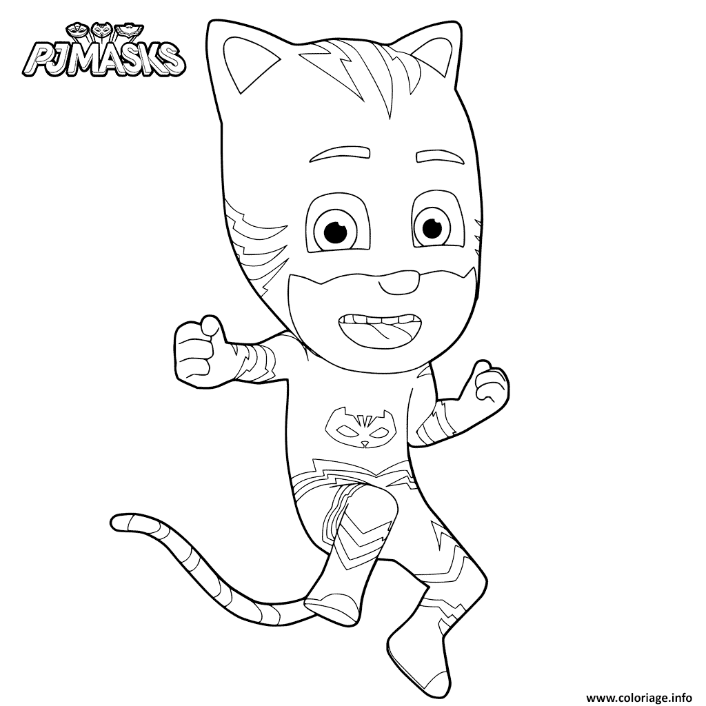Coloriage pj masks pyjamasques yoyo dessin - Pyjamasques coloriage ...