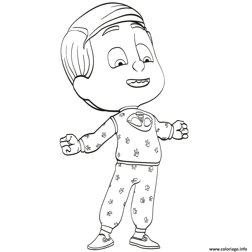 Dessin Pyjamasques Pajama Heros Coloriage Gratuit à Imprimer