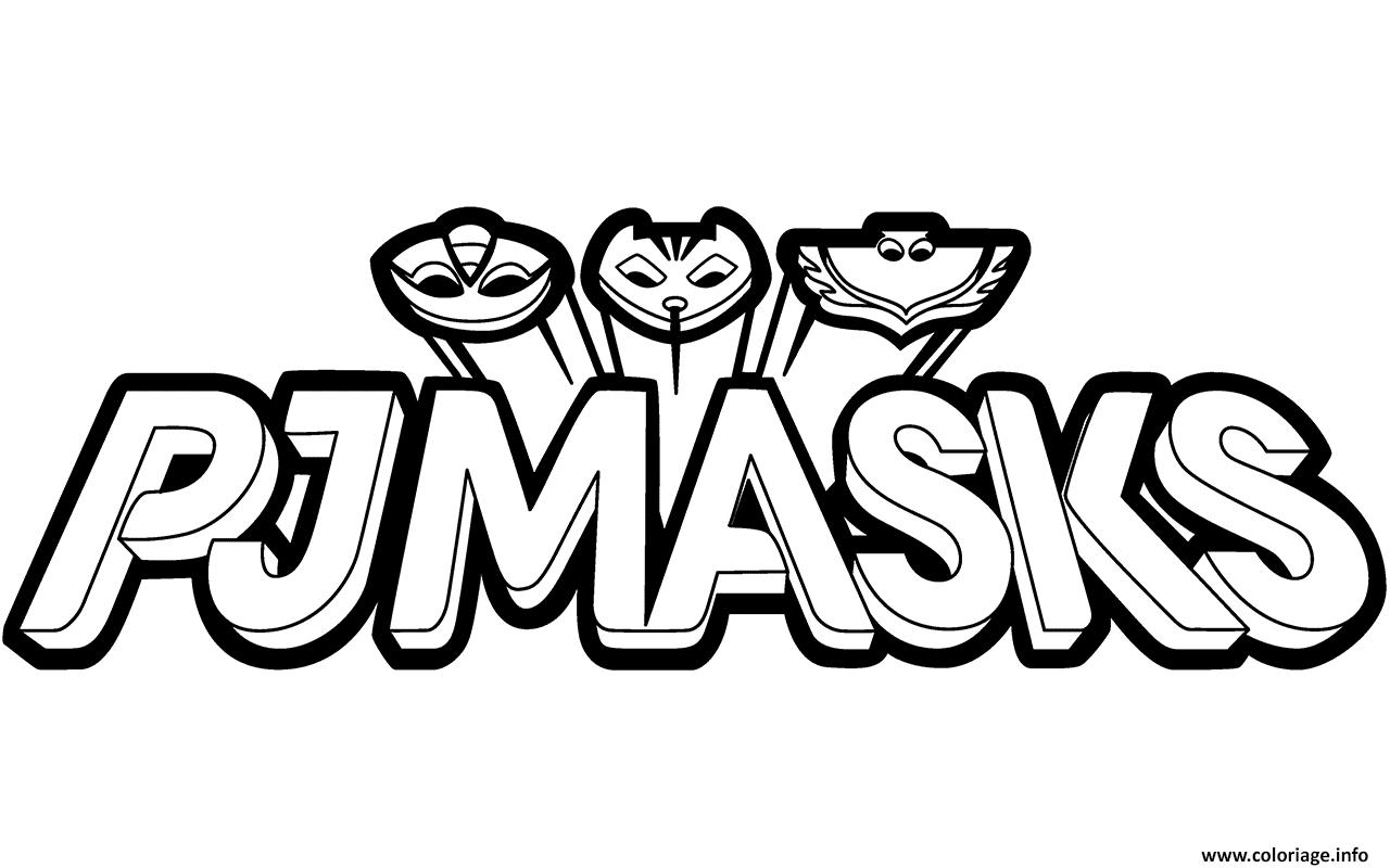 Dessin Pyjamasques Logo Black and White Clipart Coloriage Gratuit à Imprimer
