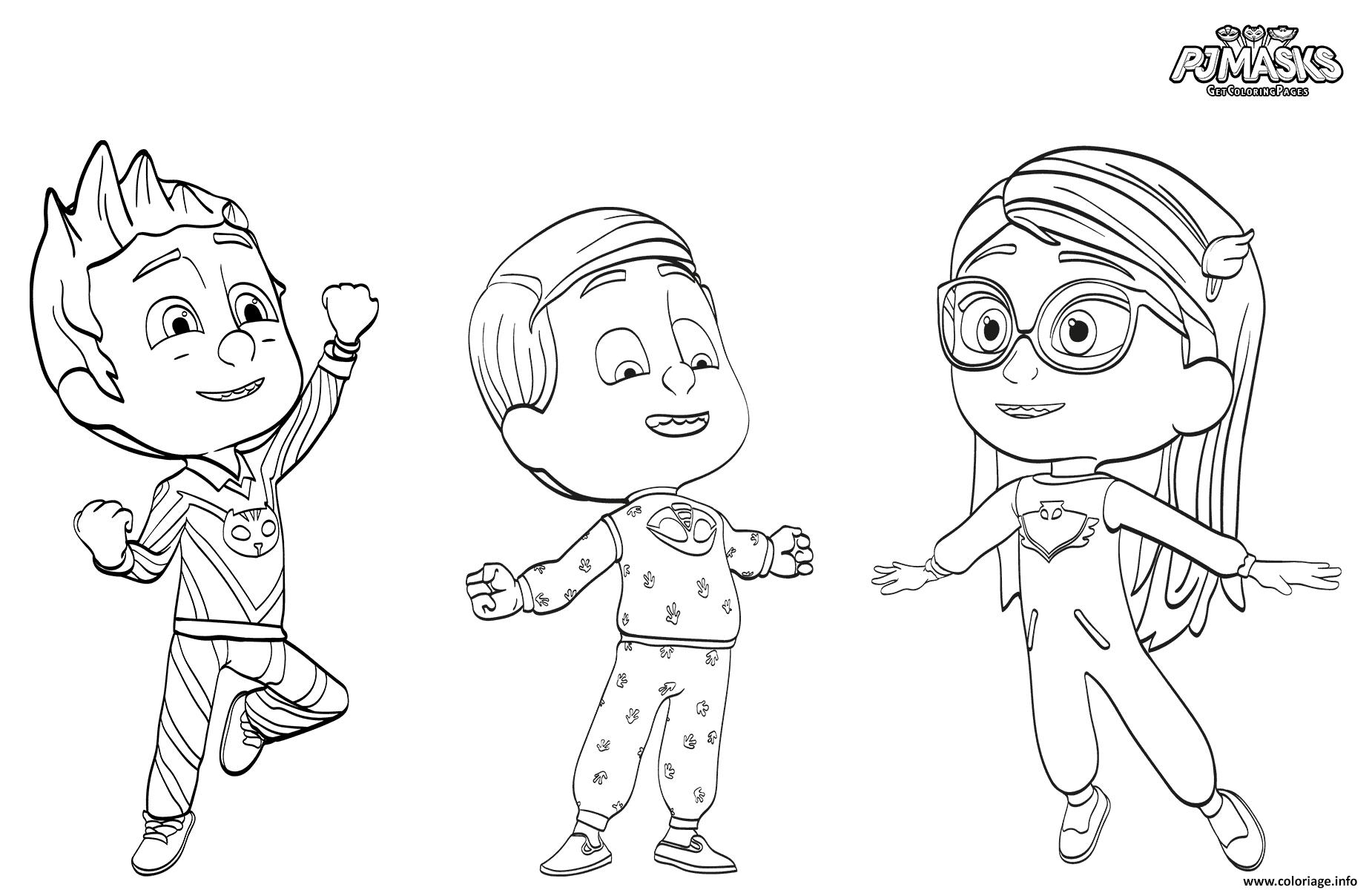 Coloriage pyjamasquess pajama heroes - Dessin de heros ...