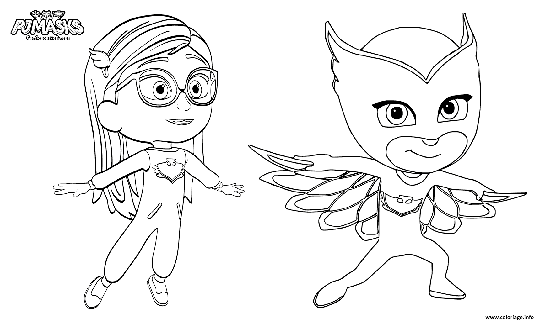 Coloriage Pajama Hero Amaya Is Owlette De Pyjamasques Dessin à Imprimer