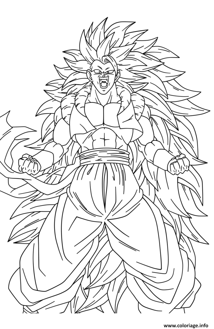 Coloriage dragon ball z sangoku super sayen 10 manga dbz dessin - Dessin dragon ball z facile ...