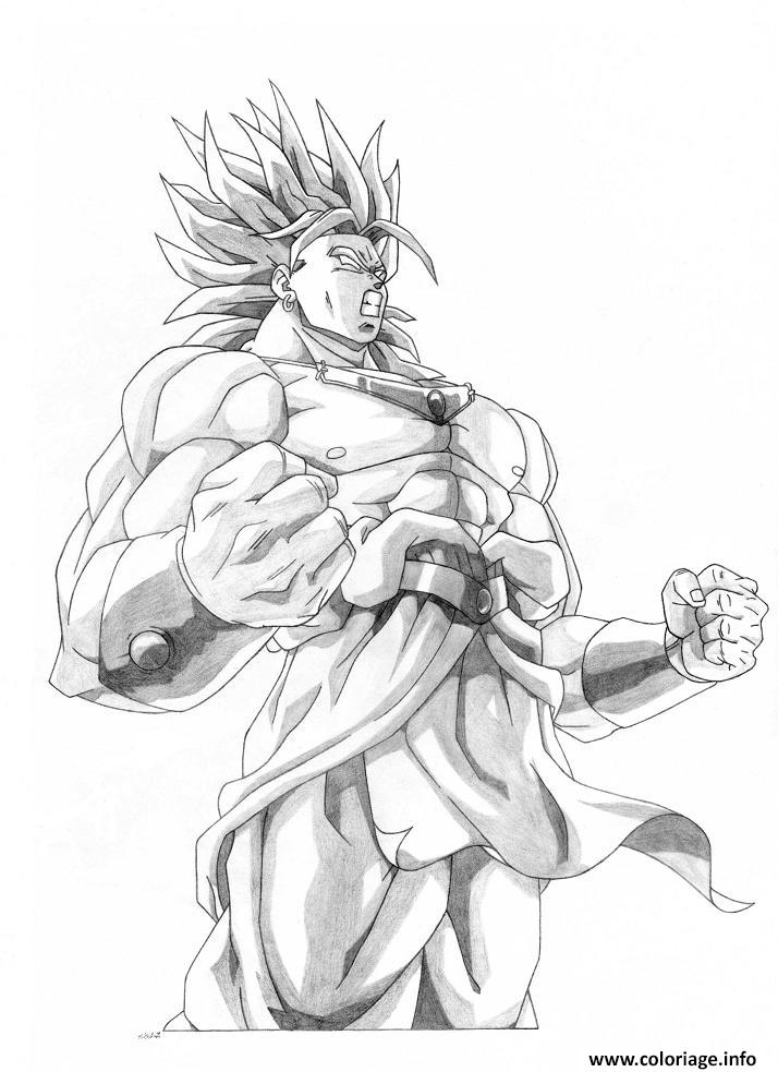 Coloriage Dragon Ball Z Sangoku Super Sayen 10 Dessin