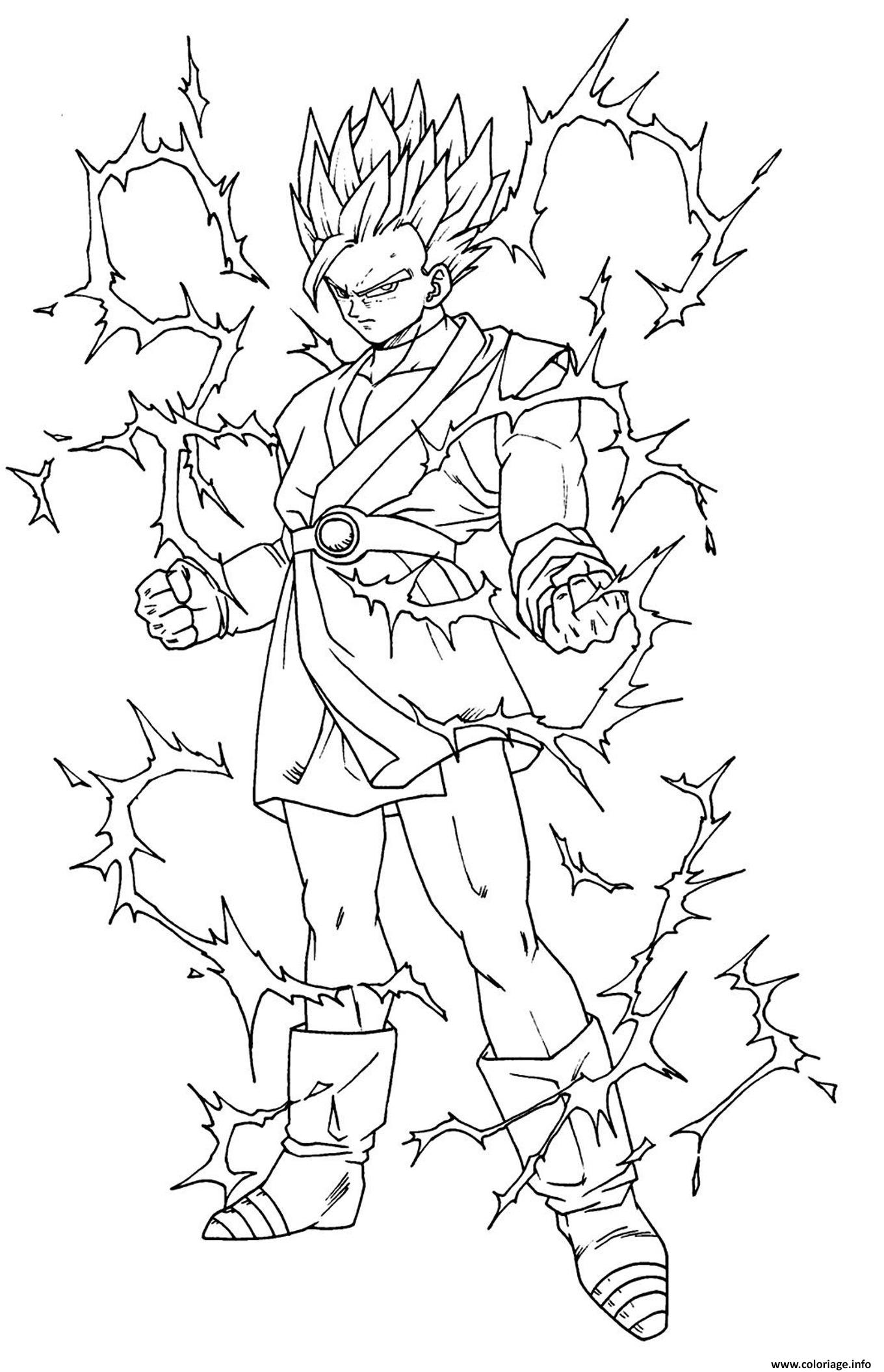 Coloriage dragon ball z sangoku super sayen 5 - Dessin de dragon ball super ...