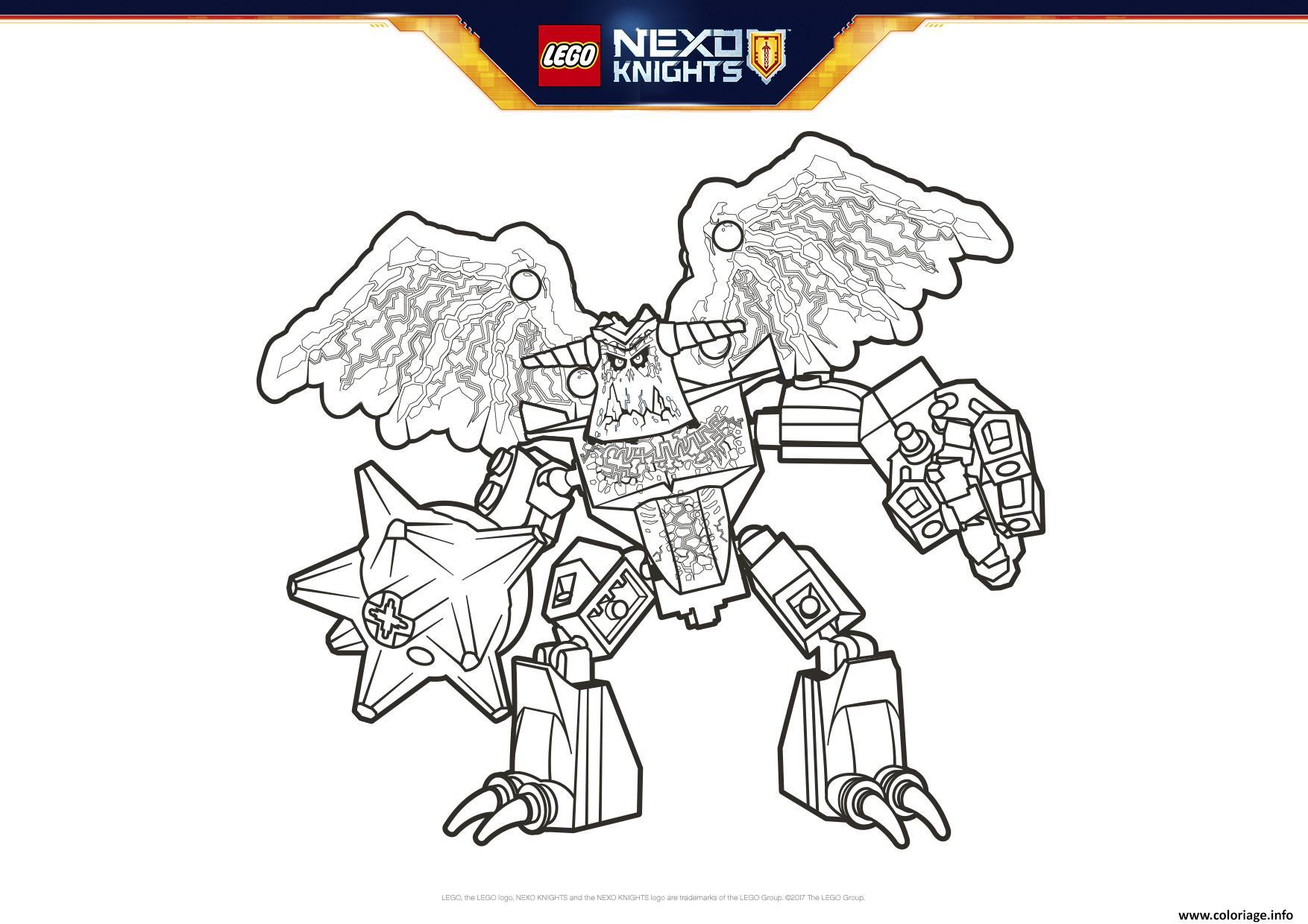 Coloriage Lego Nexo Knights Grimroc Dessin  Imprimer