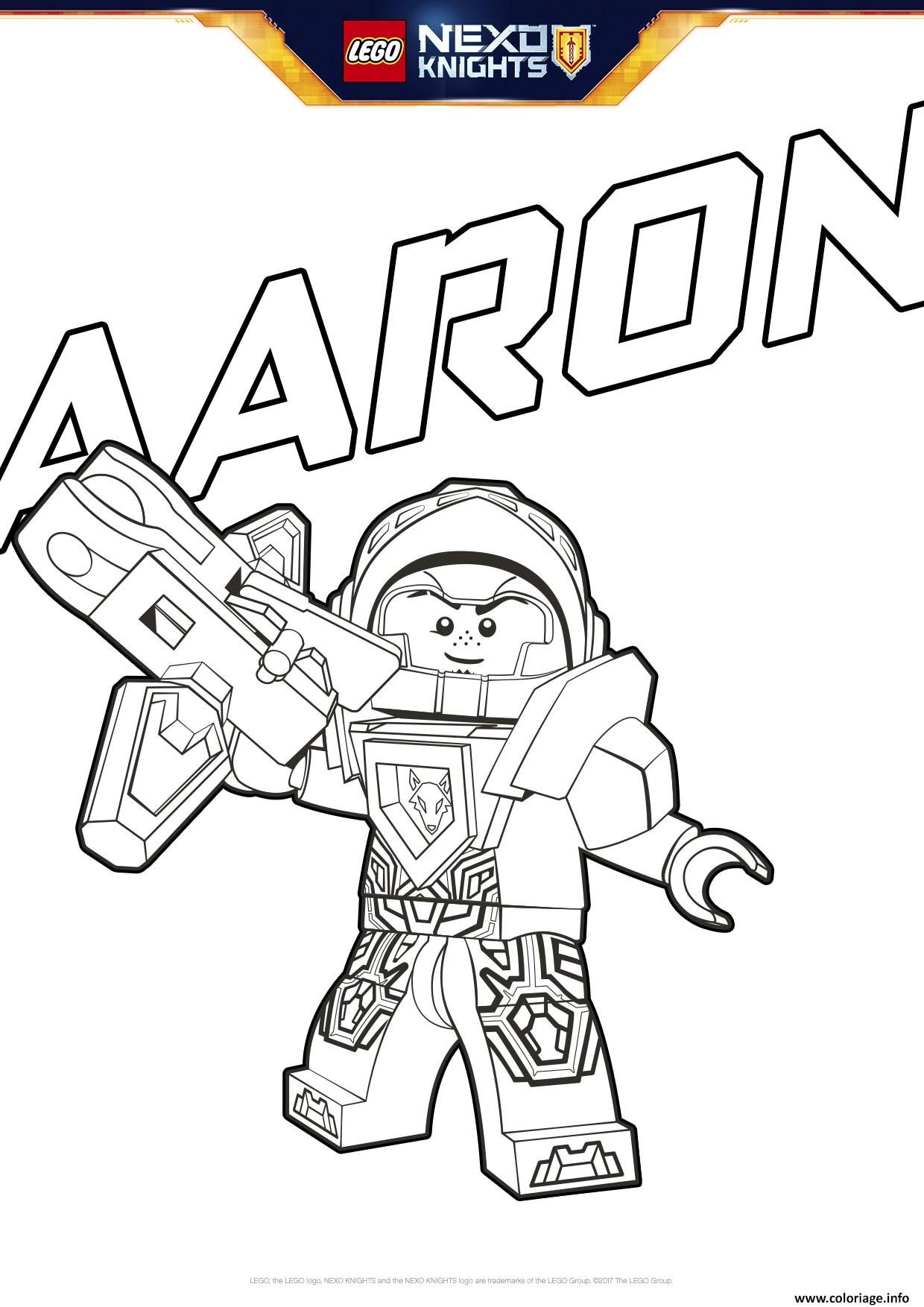 Coloriage Lego Nexo Knights Aaron Dessin à Imprimer