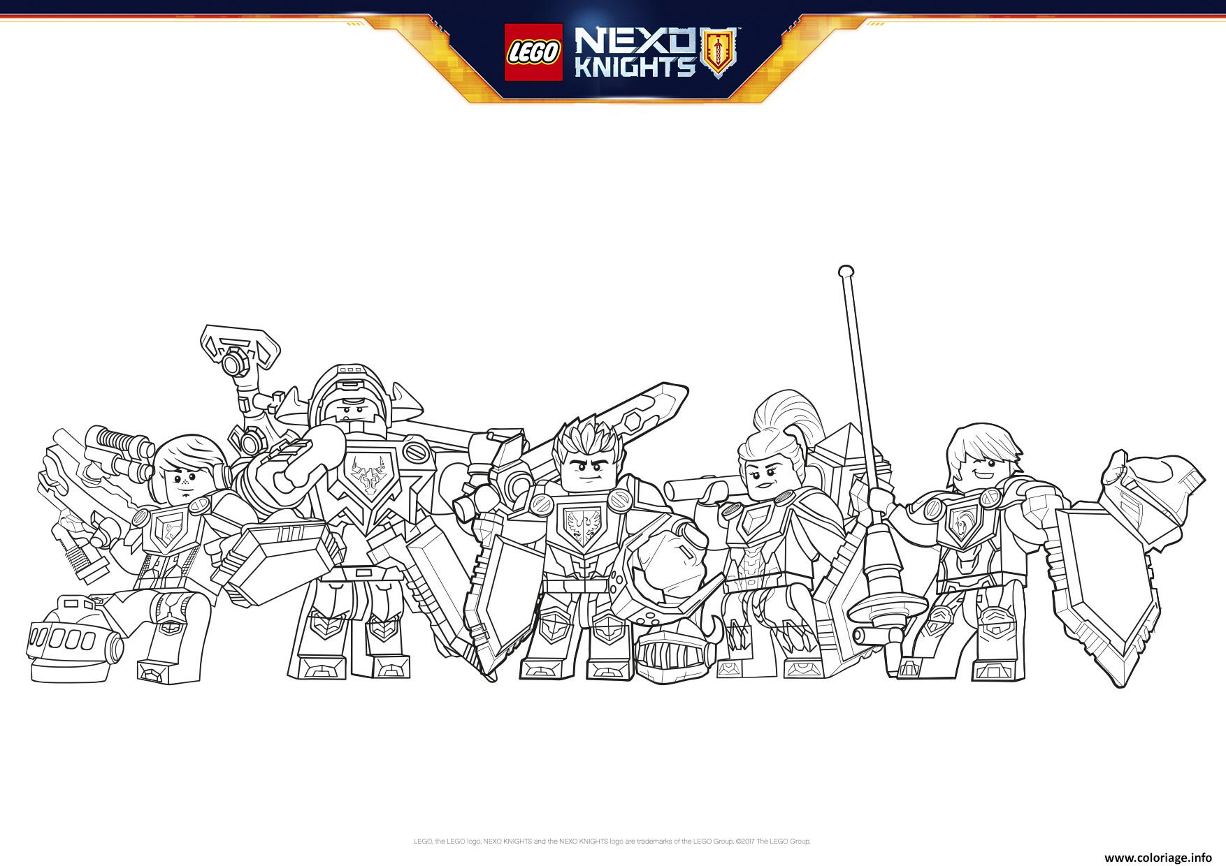 Coloriage Lego Nexo Knights Formation Line Boucliers Dessin   Imprimer